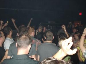 Matt Berninger in the crowd singing Terrible Love