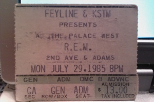 R.E.M. at the Palace West - I was 16 at the time!