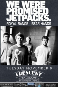 We Were Promised Jetpacks and Bear Hands at the Crescent Ballroom 11-8-2011