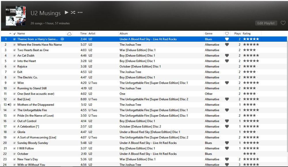 U2 setlist