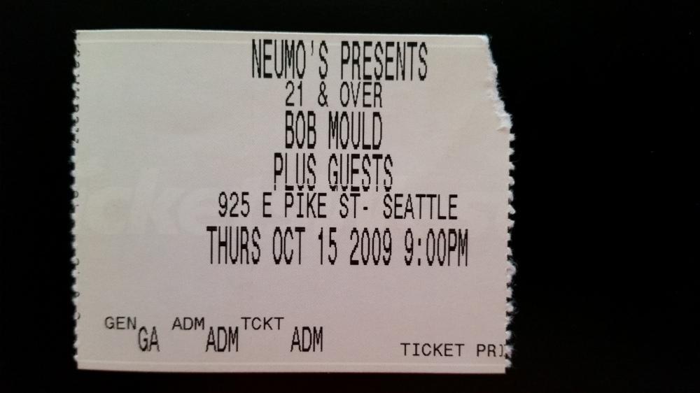 Bob Mould at Neumos 10-15-2009