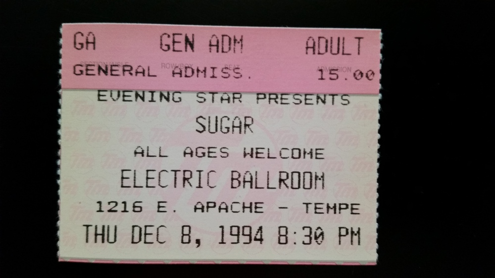 Sugar at Electric Ballroom 12-8-1994