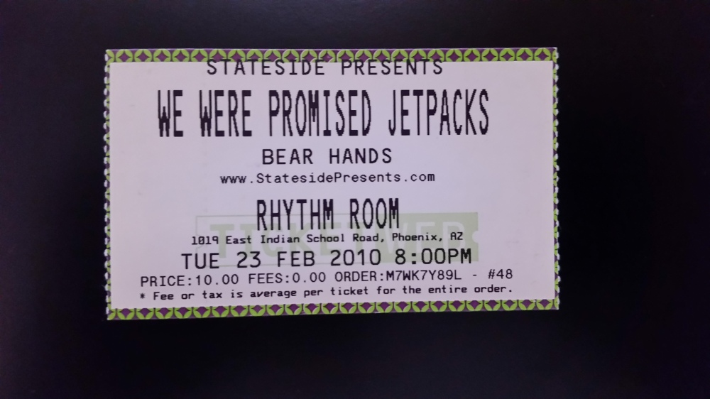 We Were Promised Jetpacks 2-23-2010 at the Rhythm Room