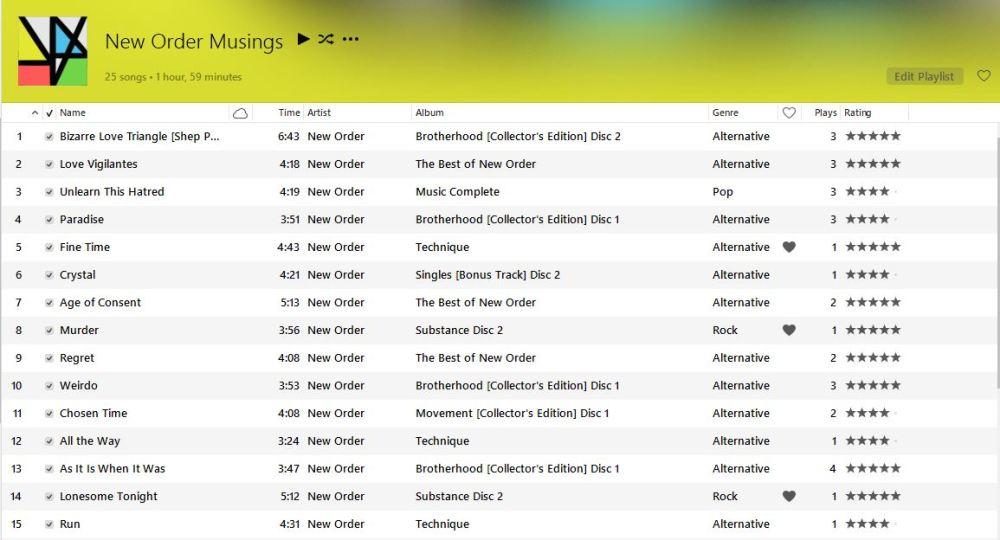 New Order setlist part 1