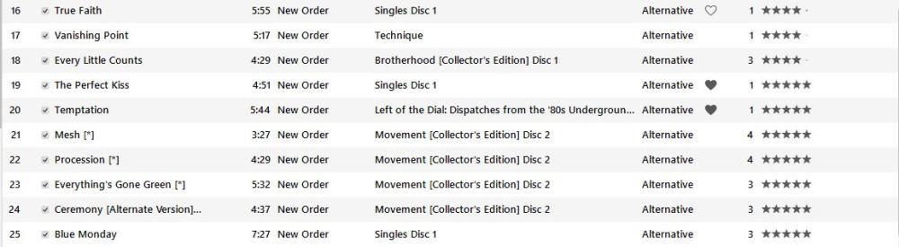 New Order setlist part 2