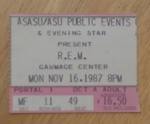 REM at Gammage 11-16-1987