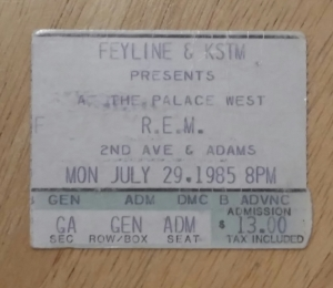 REM at Palace West 7-29-1985